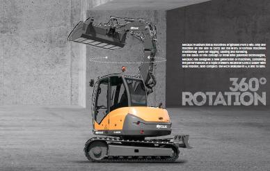 excavator 360 rotation
