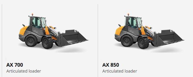 Loaders AX700 AX800